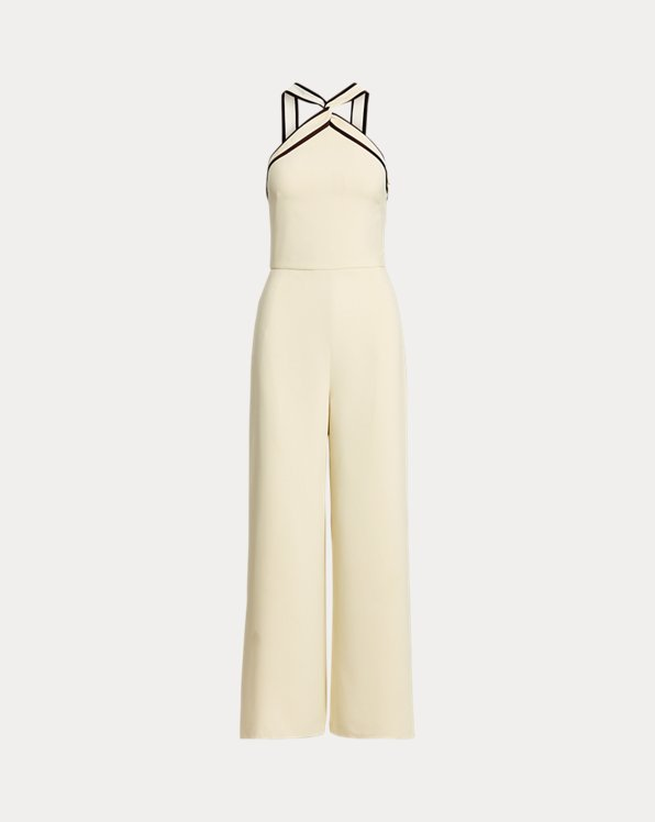 Arely Crepe Cady Halter Jumpsuit