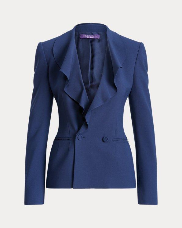 Roberts Wool Crepe Ruffled Jacket