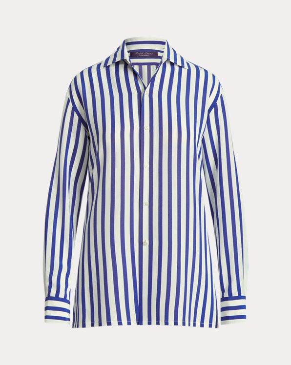 Capri Striped Silk Shirt