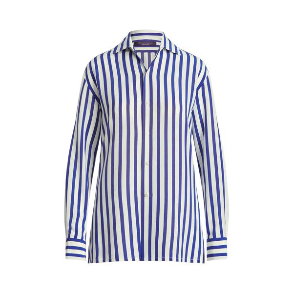 Ralph Lauren Shirts CAPRI STRIPED SILK SHIRT