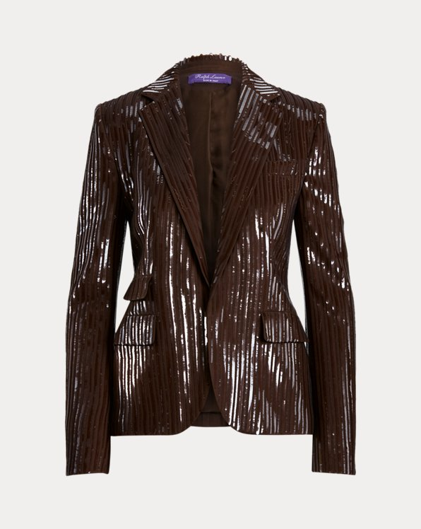 Lilli Sequined Wool Jacket