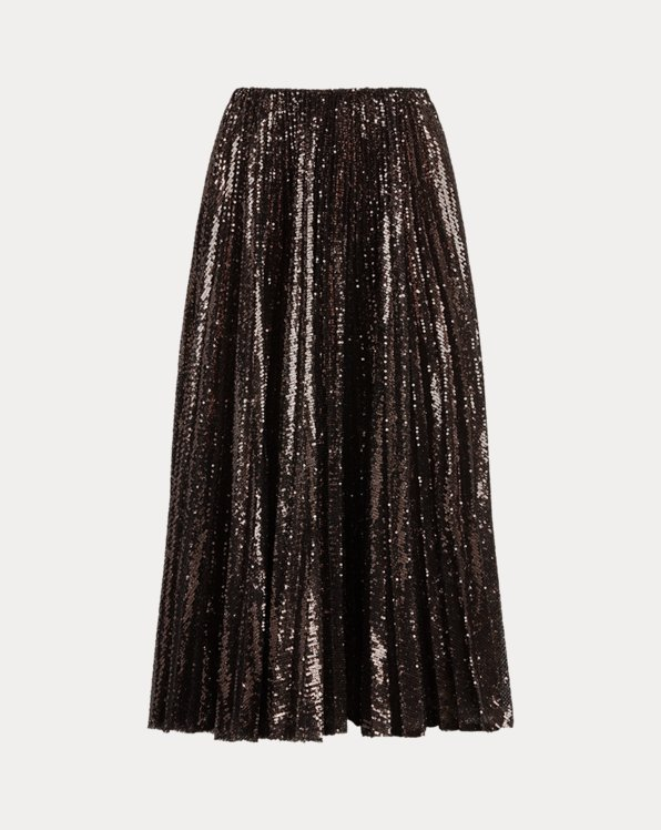 Trivelas Pleated Sequin Skirt