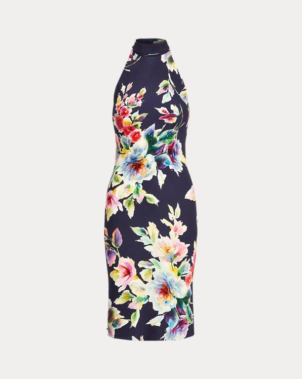 Alysha Embellished Floral Cocktail Dress