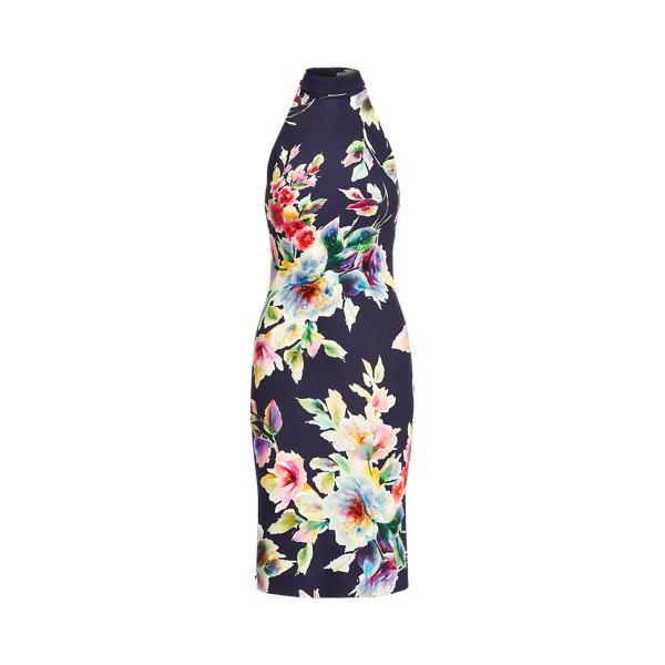 Ralph Lauren ALYSHA EMBELLISHED FLORAL COCKTAIL DRESS