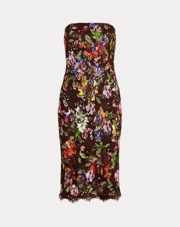 Karolin Embellished Lace Cocktail Dress
