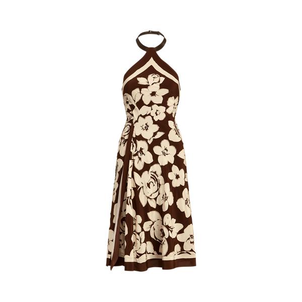 Ralph Lauren KIERNAN EMBELLISHED SILK COCKTAIL DRESS