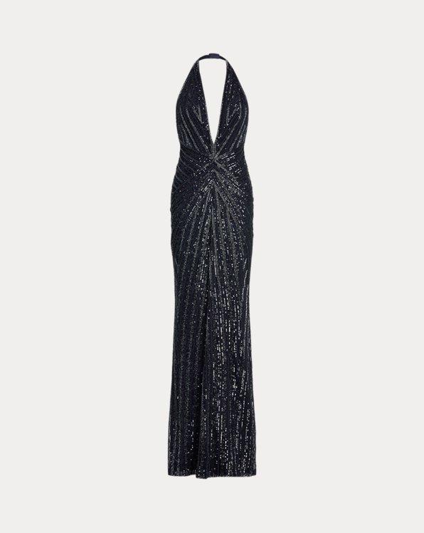 Andrianne Embellished Evening Dress
