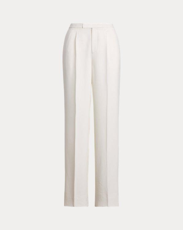 Woodson Wool Crepe Tuxedo Pant