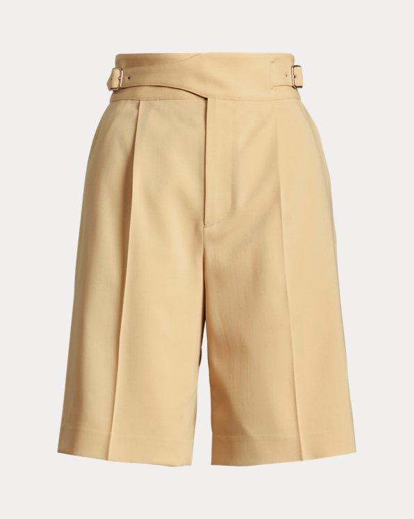 Alton Belted Wool Gabardine Short