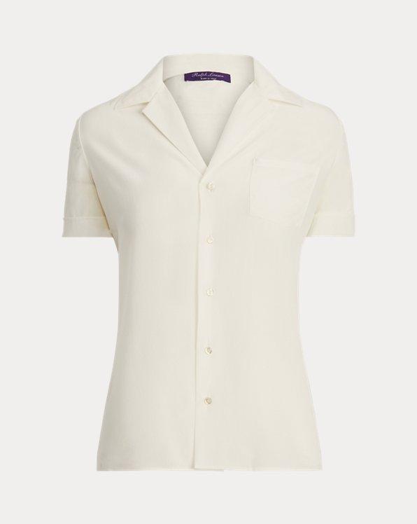 Carney Silk Crepe de Chine Pocket Shirt