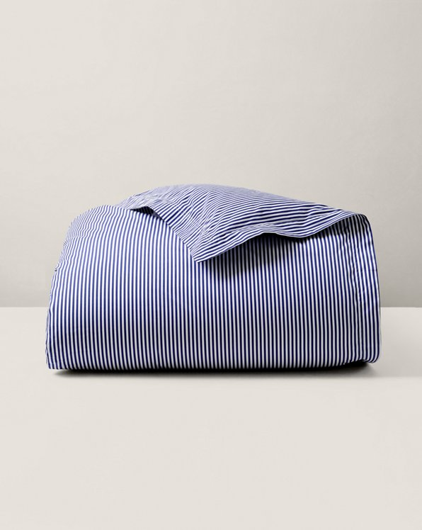 Organic Shirting Stripe Duvet Cover