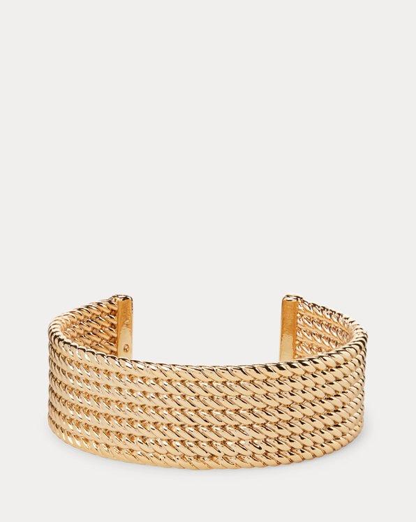 Manchette en corde dorée