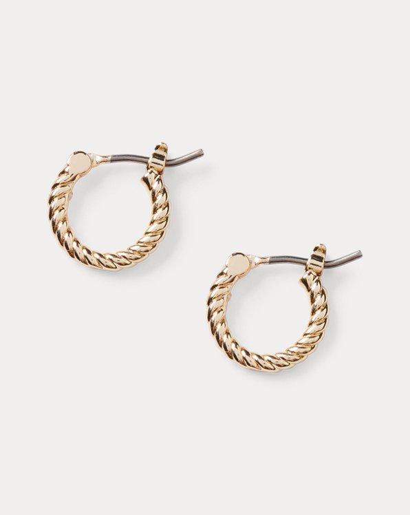 Gold-Tone Rope Huggie Earrings
