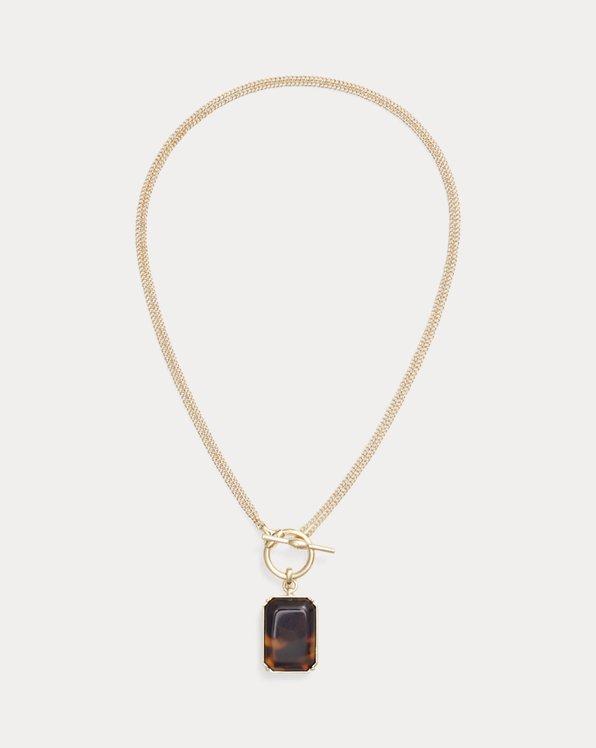 Wandelbare Halskette mit Schildpatt