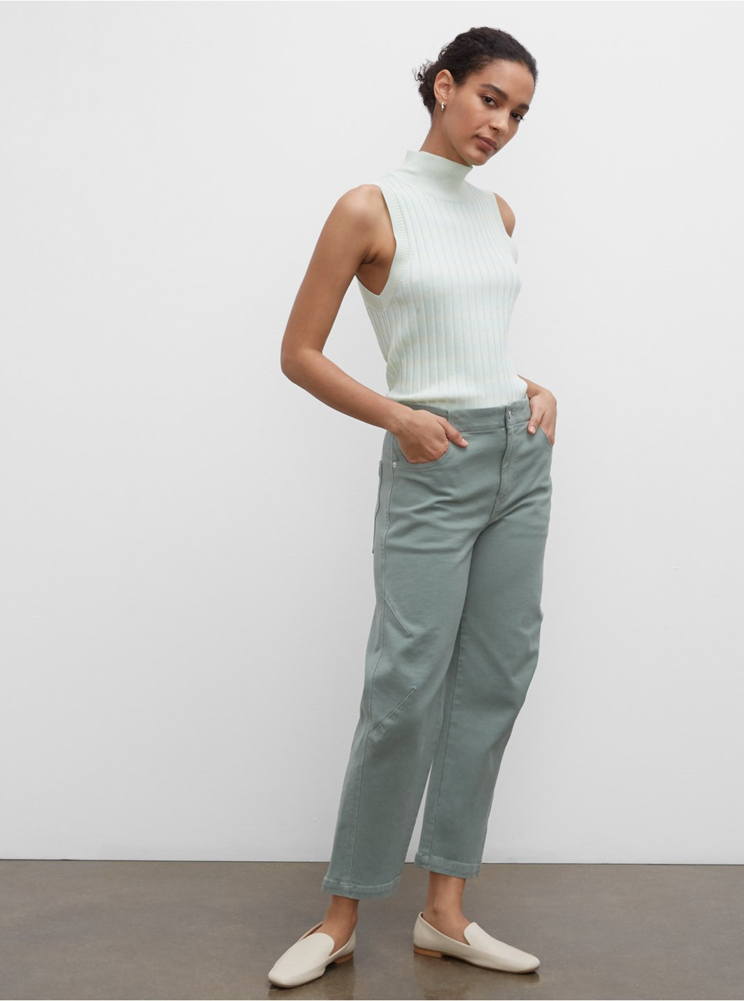 Tea Dyed Darted Jeans