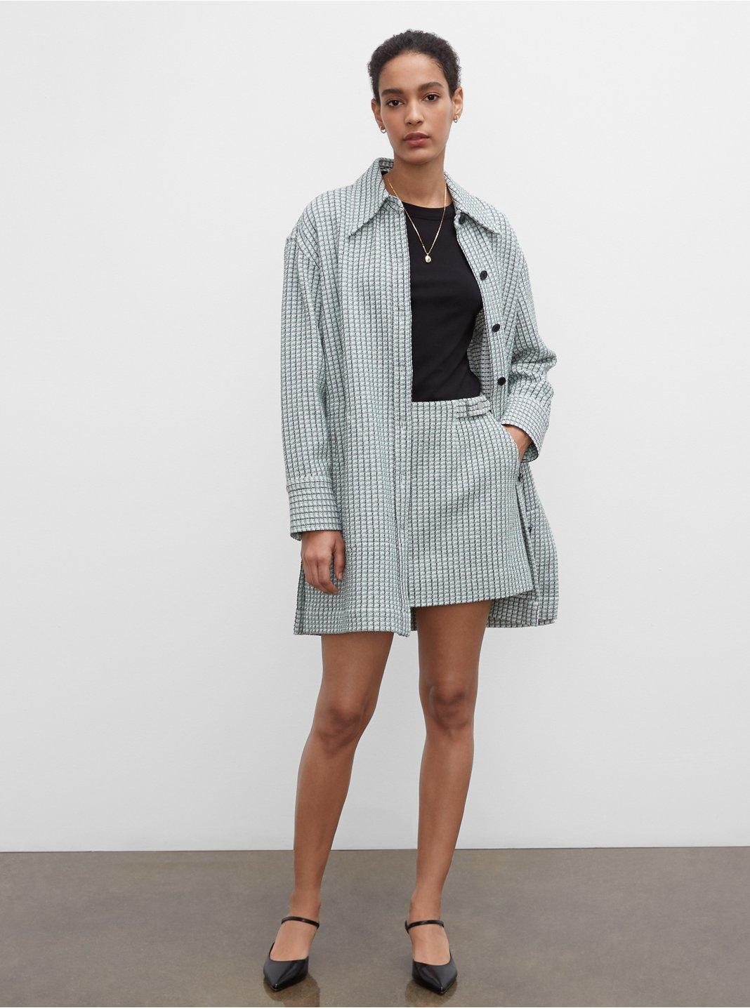 Veste chemise en tweed