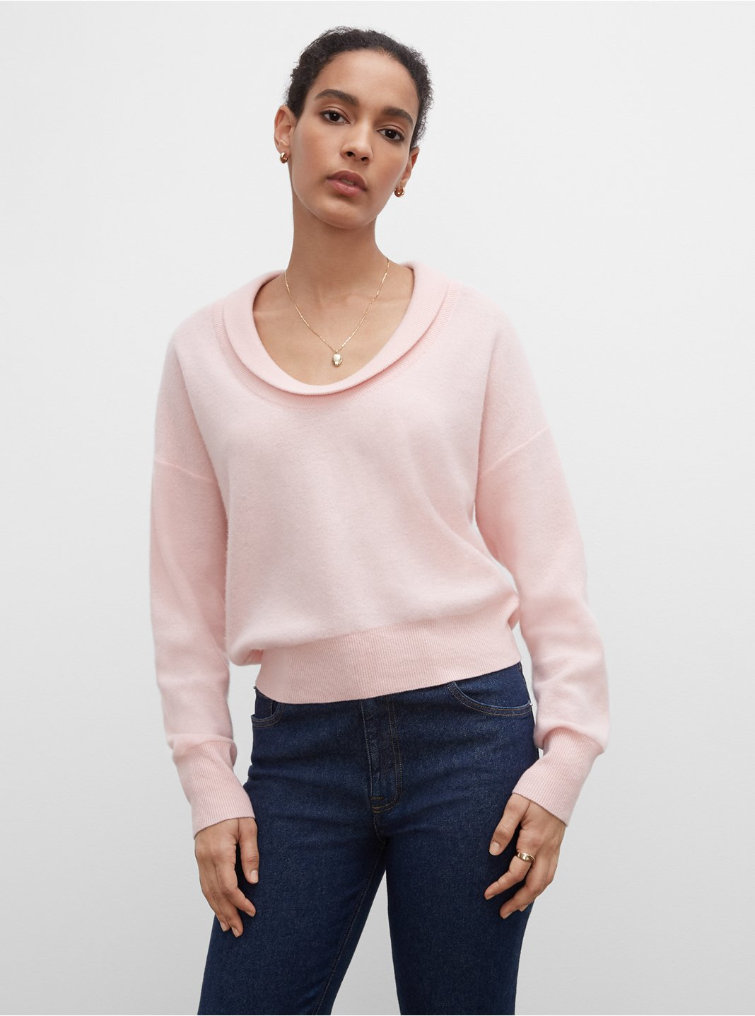 Boiled Roll Neck Cashmere Sweater