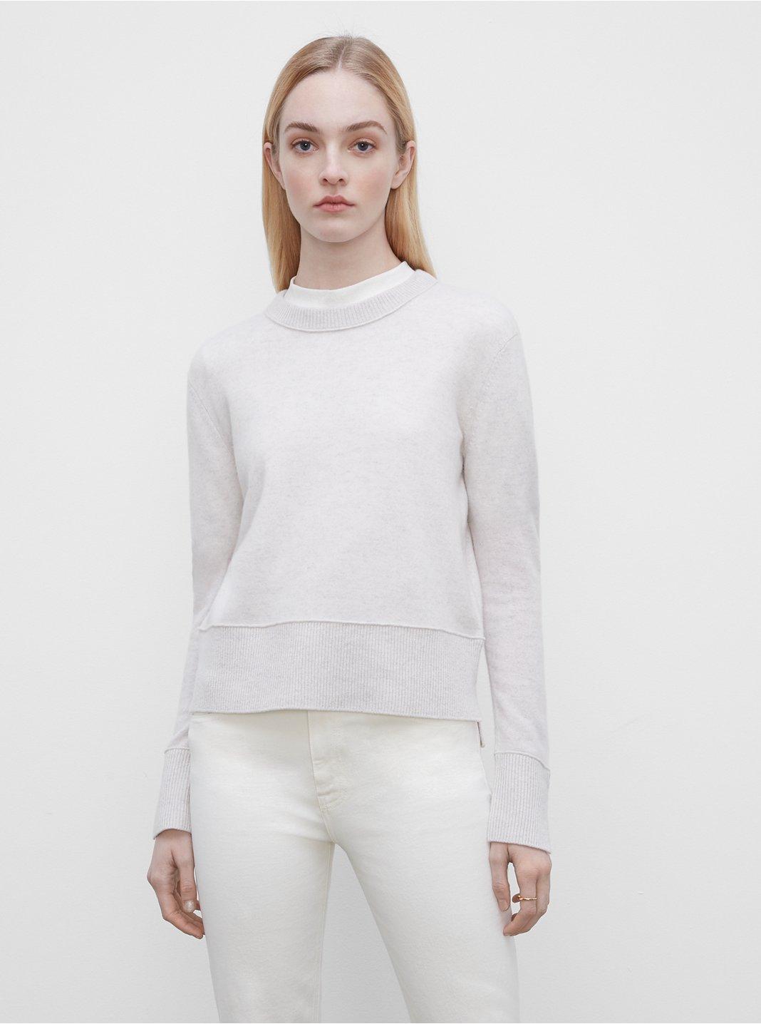 클럽 모나코 스웨터 Club Monaco Everywear Cashmere Crewneck Sweater,Off White