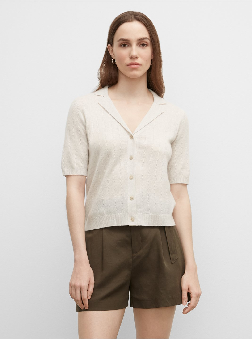 Cashmere Full Button Down Shirt