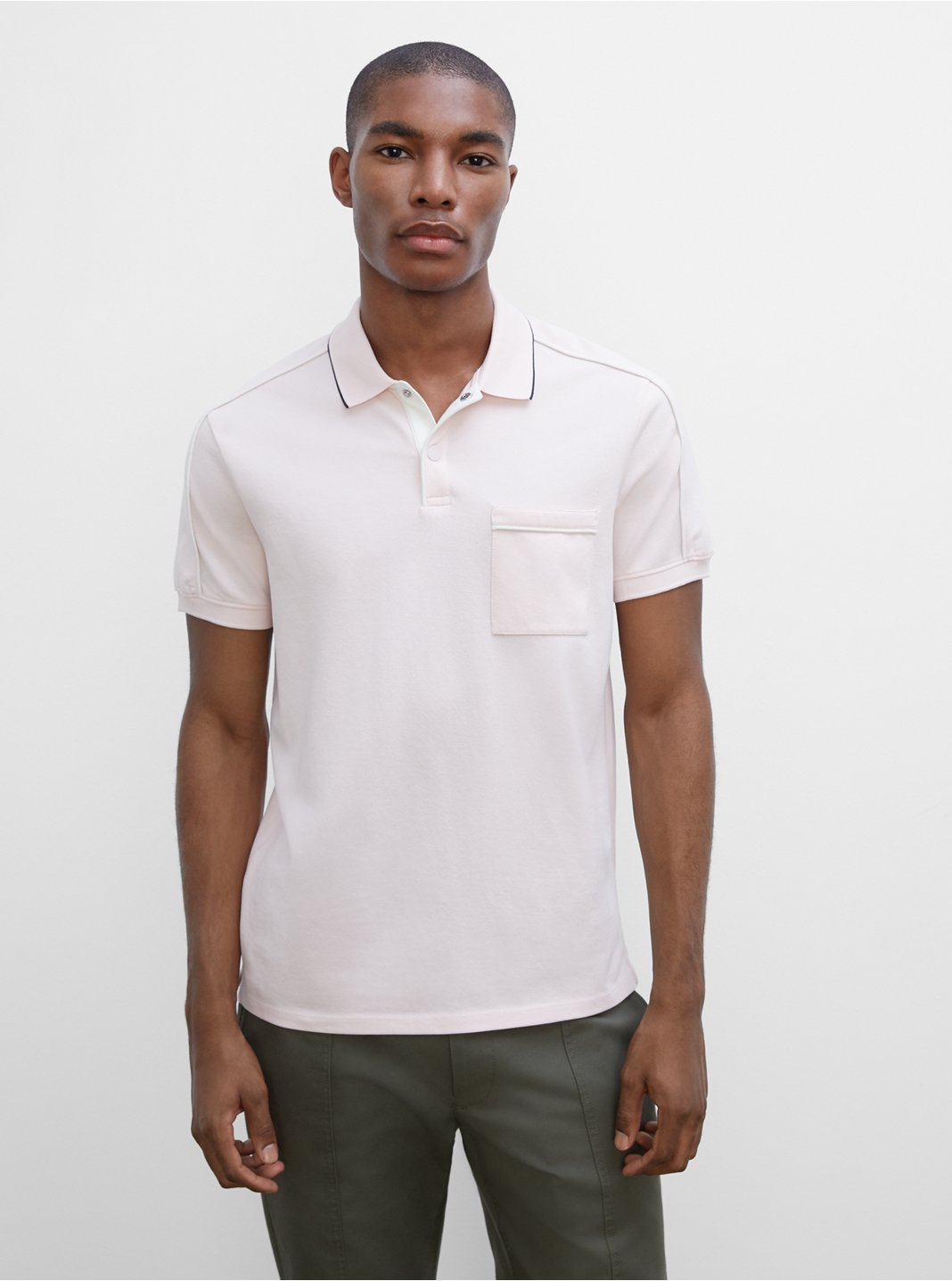 Piped Shoulder Polo