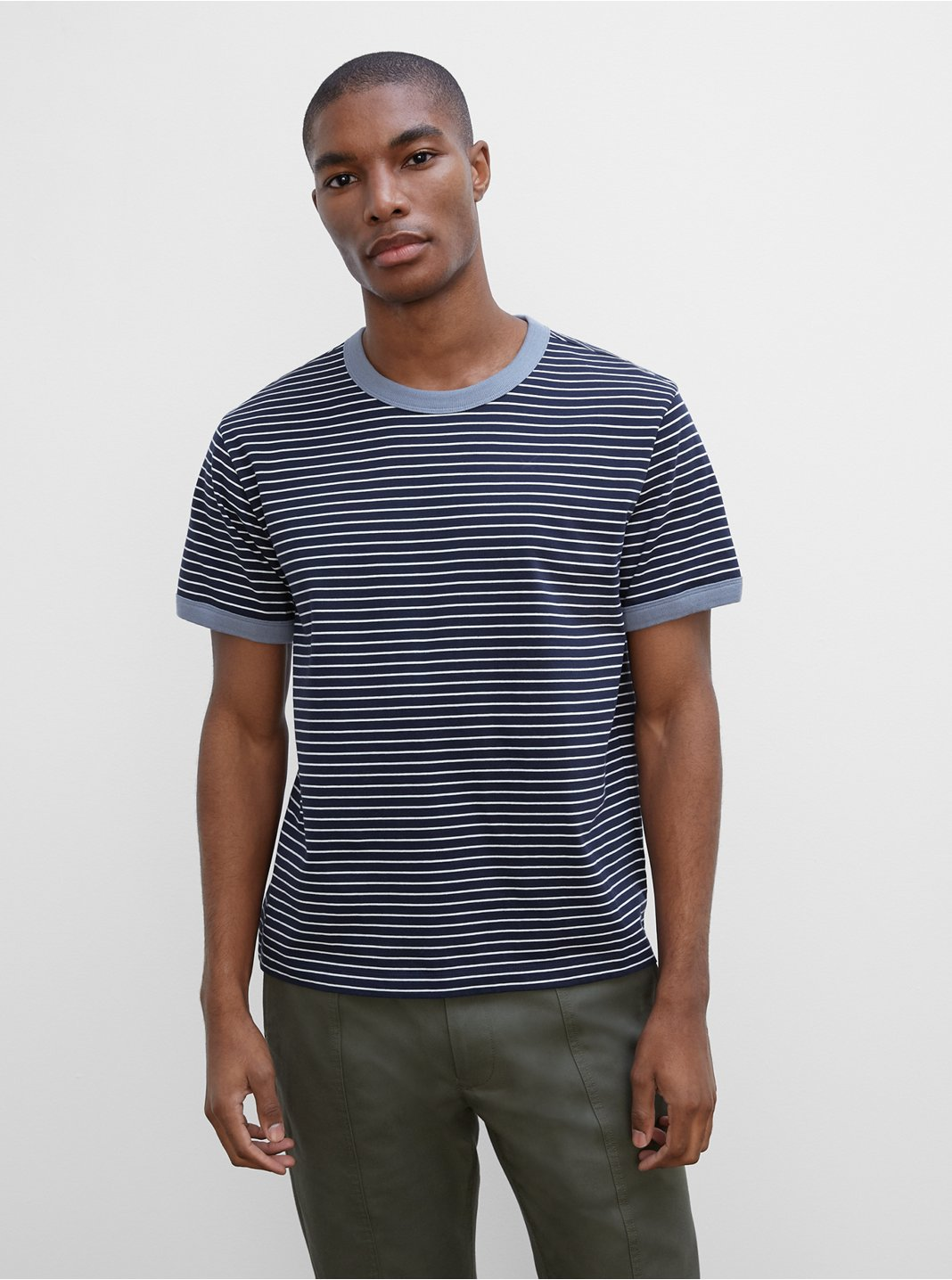 Relaxed Striped Ringer Tee
