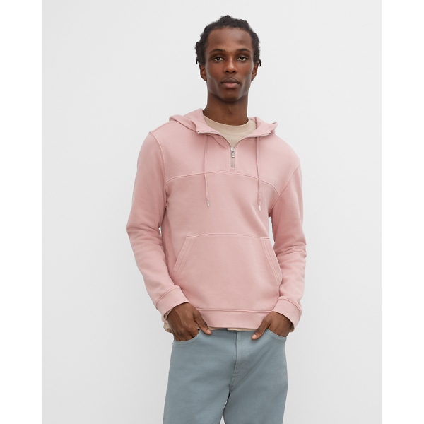 Club Monaco ROSE RED TEA DYED HOODIE IN SIZE XL