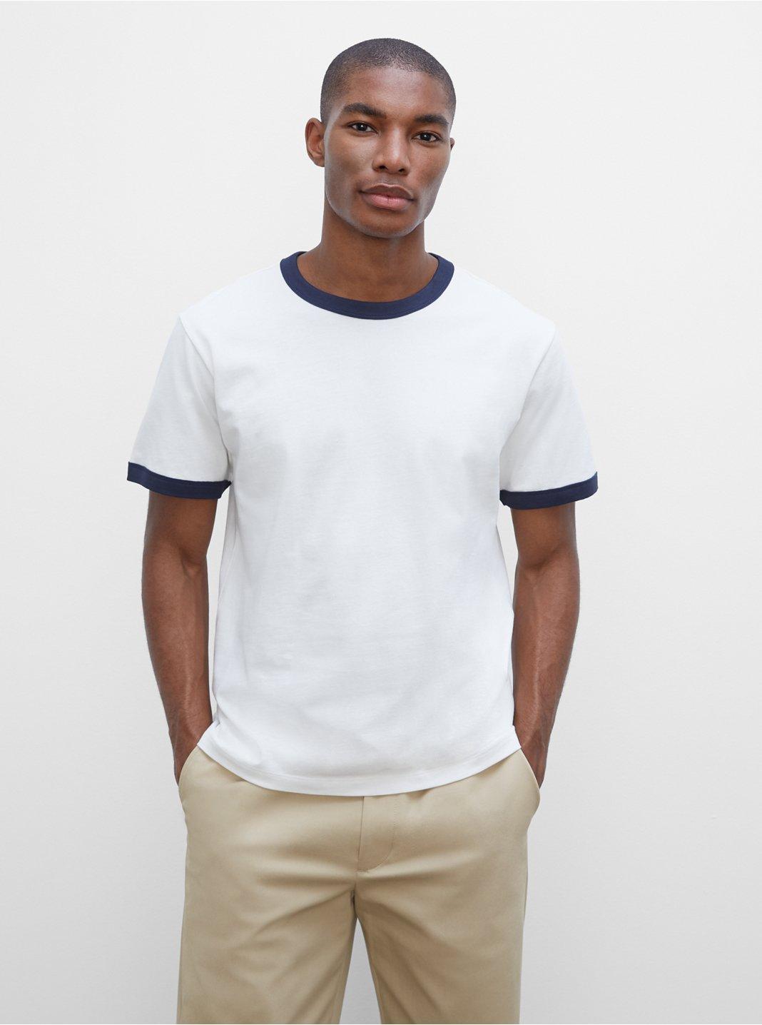 T-shirt à bordure contrastée