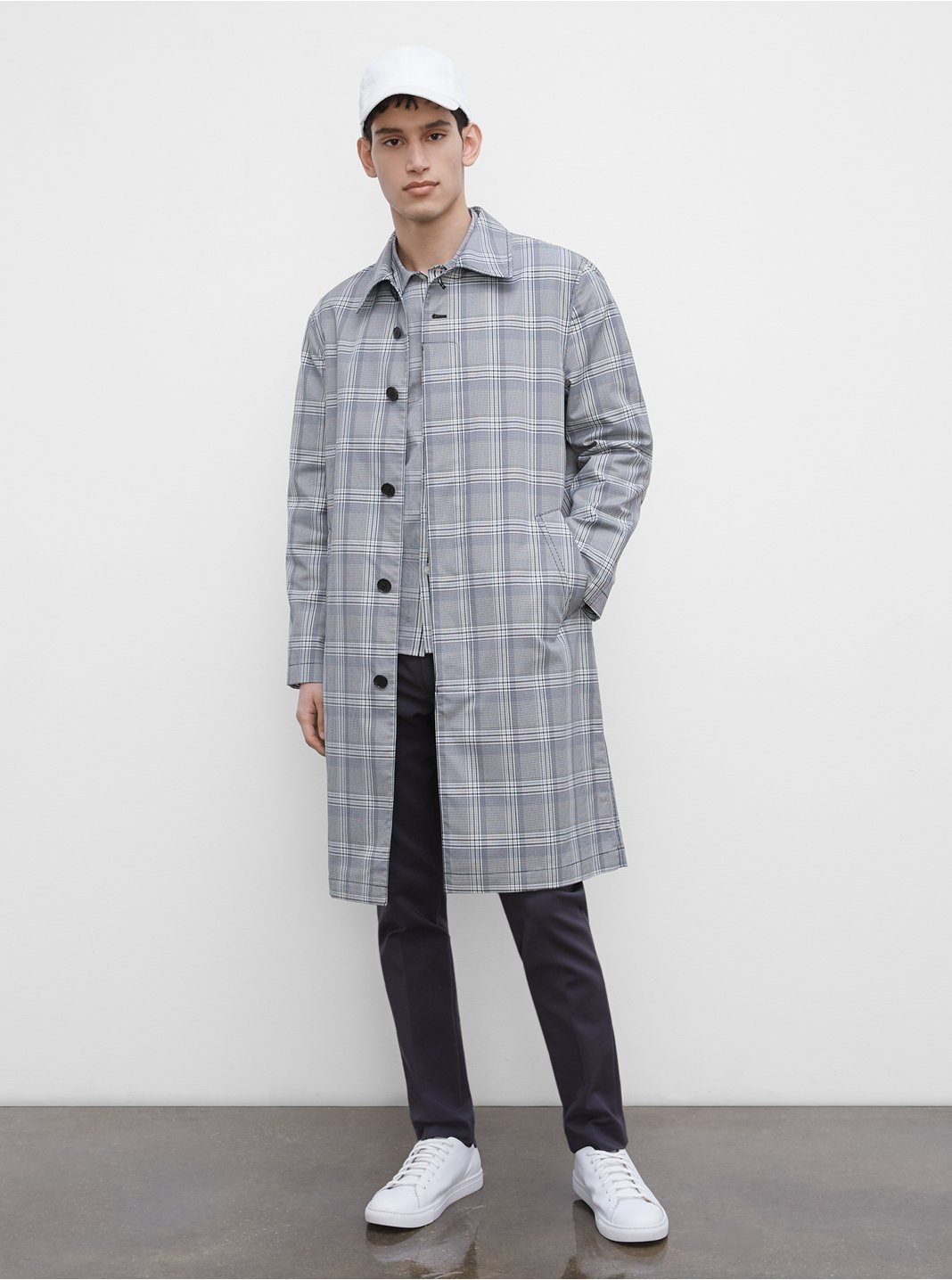 Patterned Mac Coat