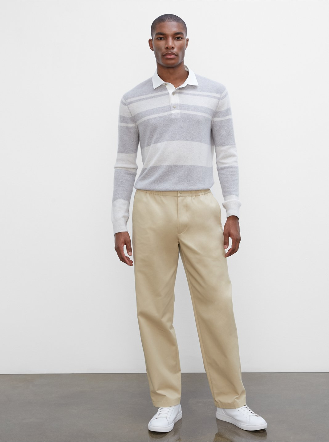 Elasticated Straight Leg Pants