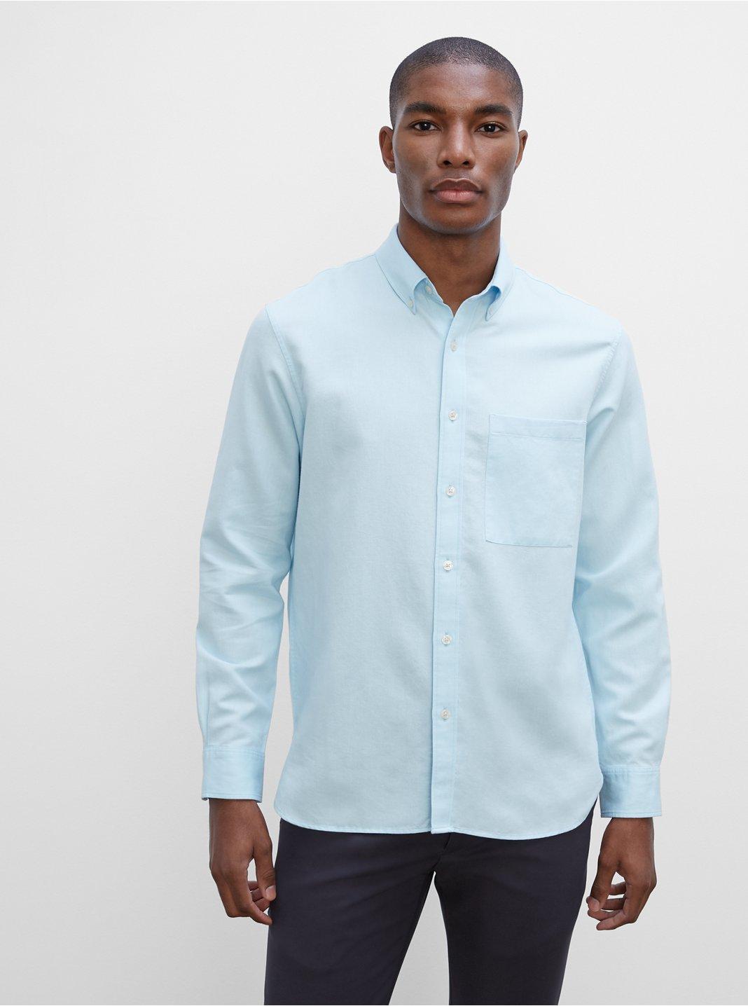 Long Sleeve Solid Twill Shirt