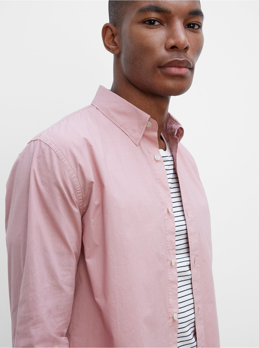 Long Sleeve Tea Dyed Poplin Shirt