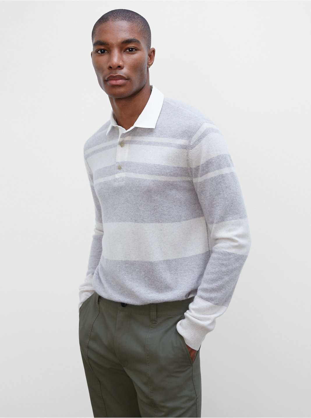 Long Sleeve Striped Rugby Sweater