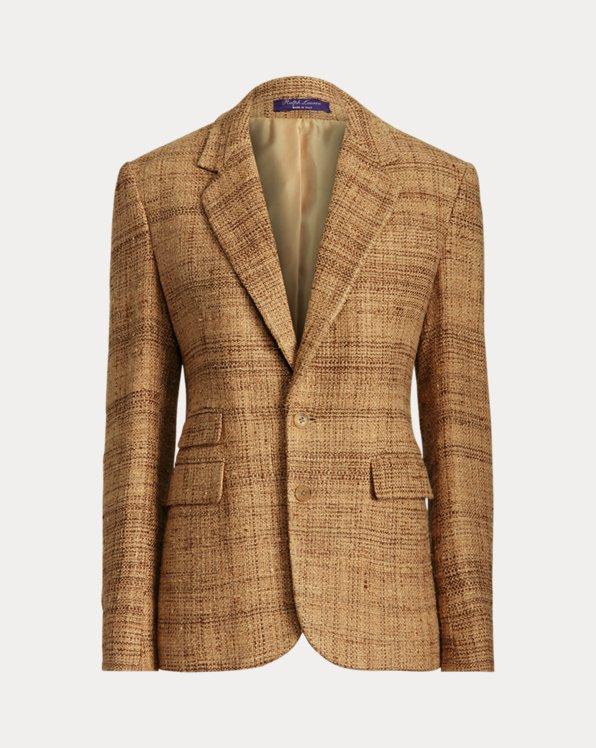 Ashtyn Linen-Silk Tweed Blazer