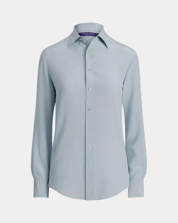 Harrison Silk Crepe de Chine Shirt