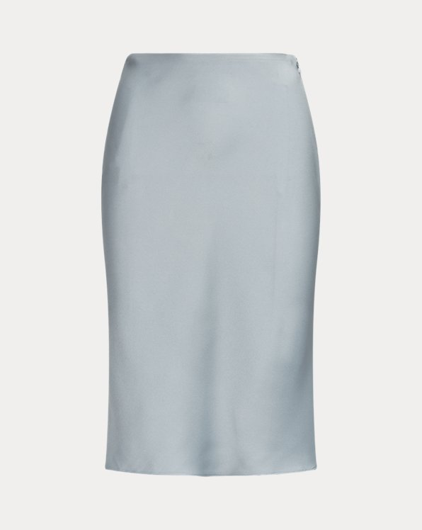 Kaela Crepe-Back-Satin Skirt