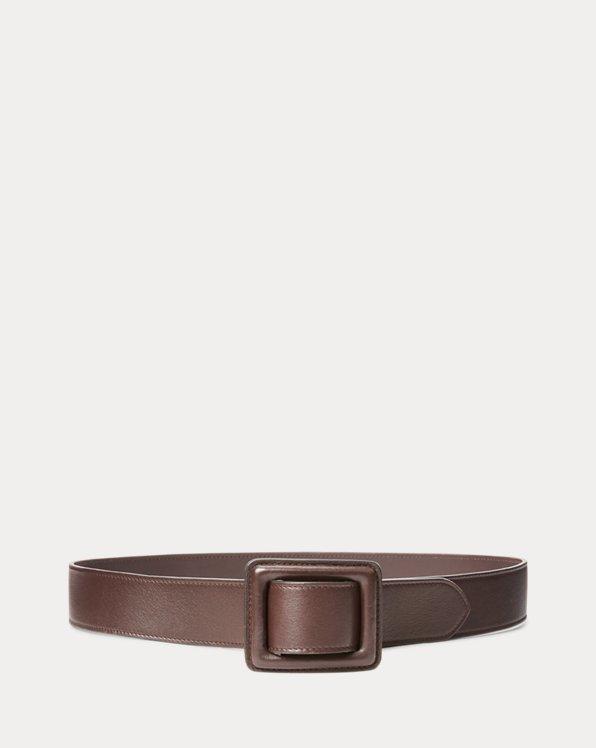 Trench-Buckle Calfskin Belt