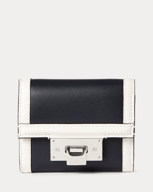 Calfskin Petite Hinge-Lock Wallet