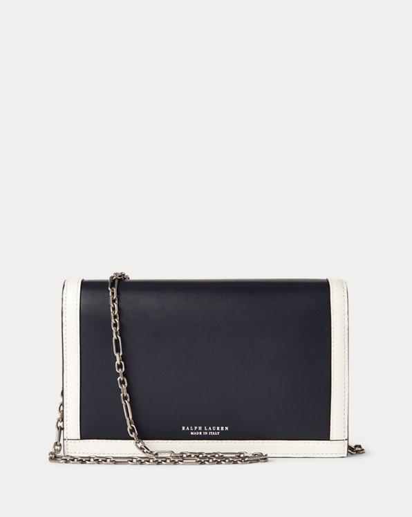 Calfskin Hinge-Lock Chain Wallet