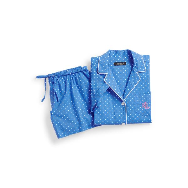 로렌 랄프로렌 파자마 세트 Lauren Polka Dot Boxer Pajama Set,Blue Dot
