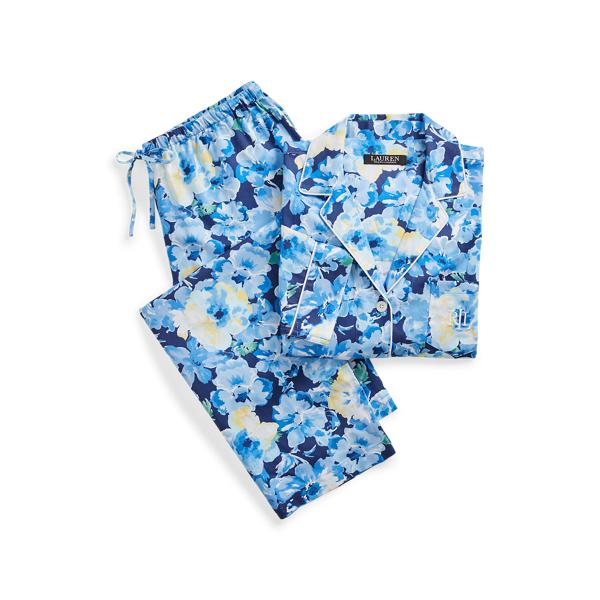 로렌 랄프로렌 파자마 세트 Lauren Floral Three Quarter Sleeve Sleep Set,Blue Floral