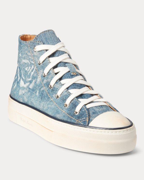 Raina Floral Denim High-Top Sneaker