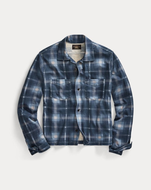Plaid-Print Cotton Jersey Workshirt