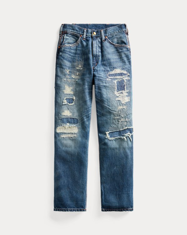Repaired Boy-Fit Straight Jean