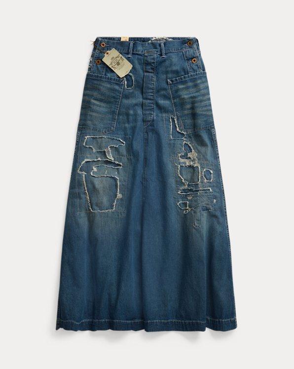 Repaired Denim Skirt