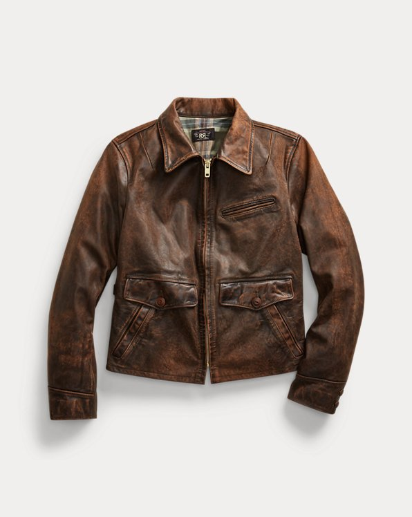 Fitted Leather Field Jacket