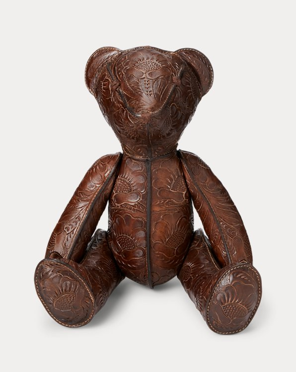 Hand-Tooled Leather Bear