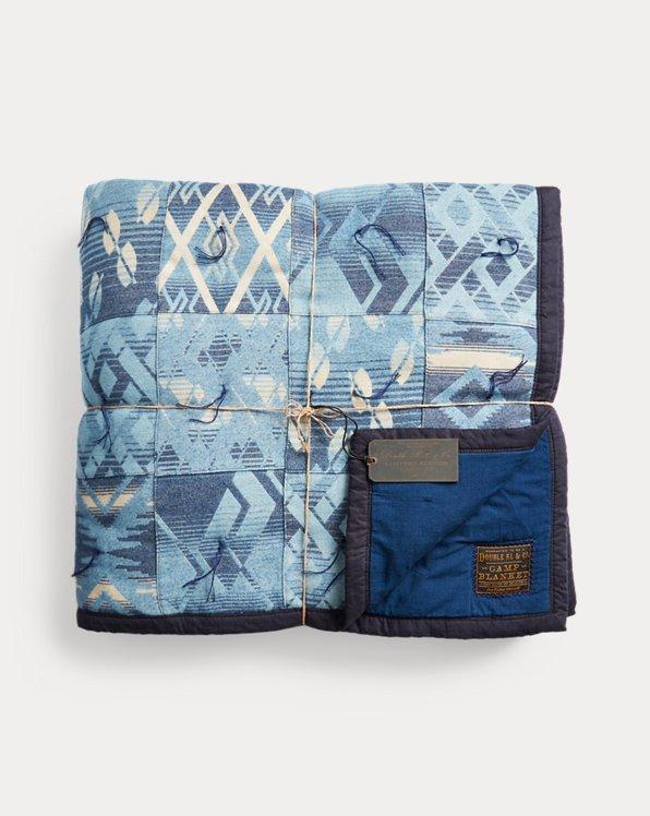 Limited-Edition Indigo Patchwork Quilt