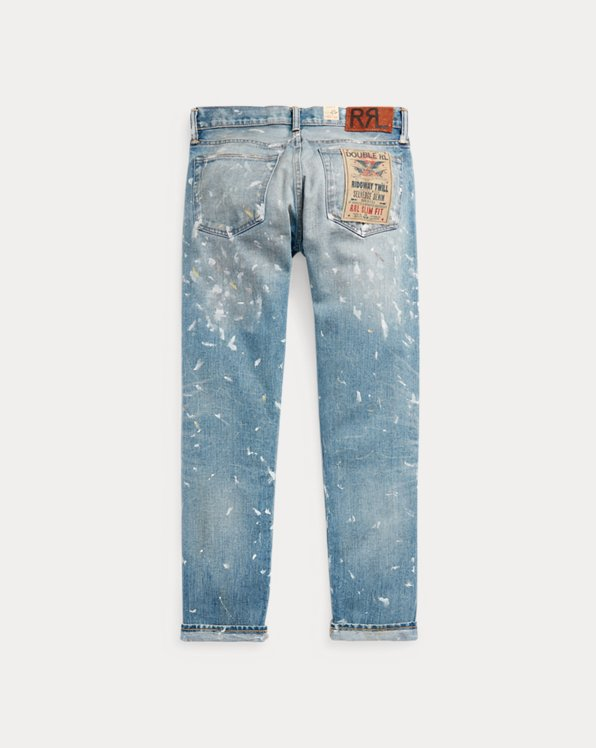 Slim Fit Distressed Selvedge Jean