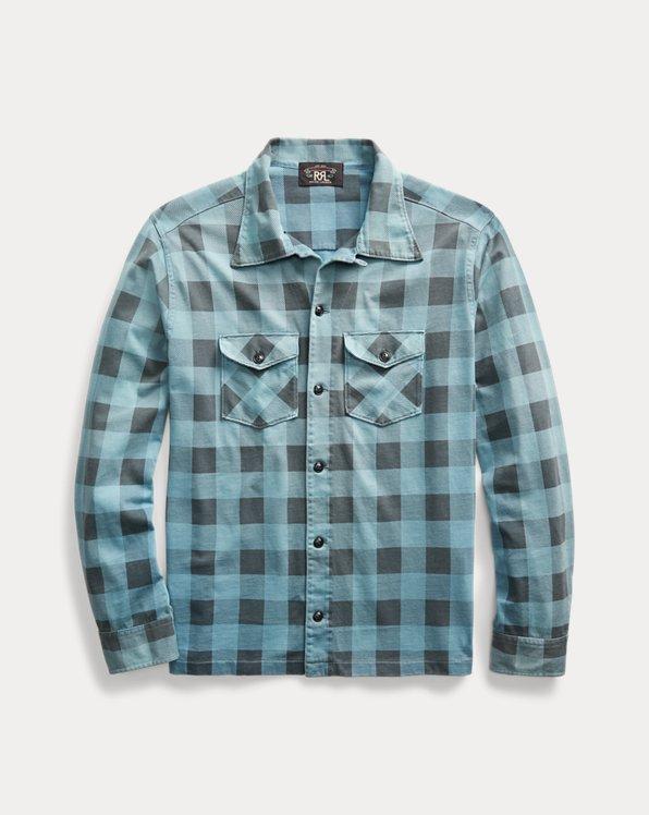 Plaid-Print Jersey Workshirt