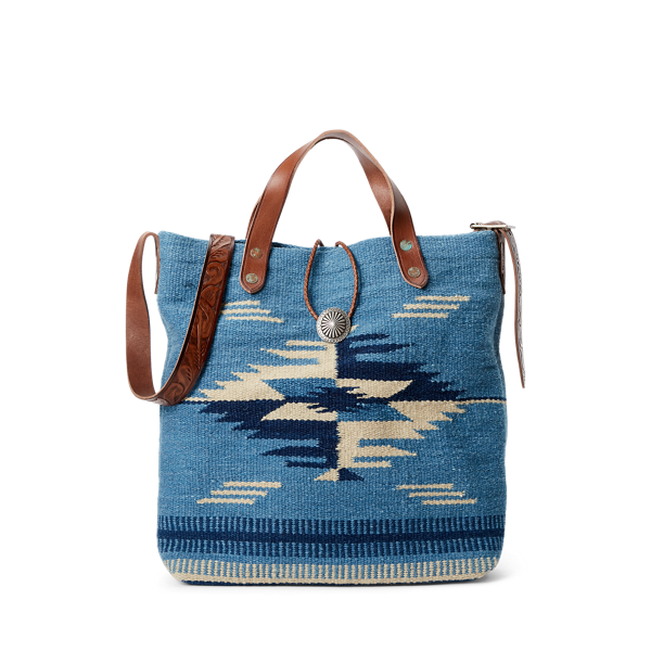 Handwoven Indigo Jacquard Bag